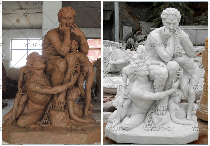 Famous Ugolino and His Sons statue